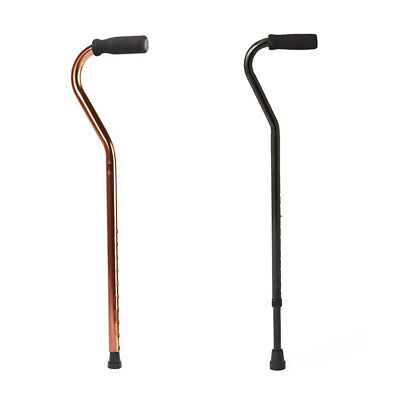 Offset Walking Stick Cane Telescopic Lightweight Aluminum Mobility Aid Equipment