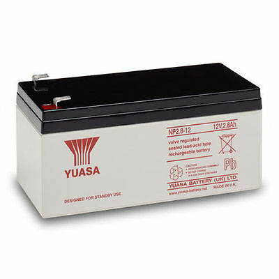 NP2.8-12 YUASA 12v 2.8Ah sealed lead acid battery for alarms, toy cars