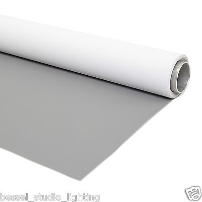 Bessel 2m x 4m Double Sided White Midtone Grey Photographic Background Vinyl