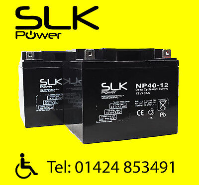 2 x 12v 40AH MOBILITY SCOOTER  ELECTRIC WHEELCHAIR AGM/GEL SCOOTER BATTERIES