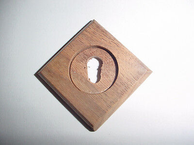 Victorian/Eastlake Style Wooden Keyhole Cover/Escutcheon, Walnut, Unfinished
