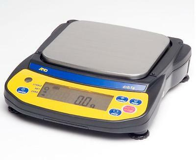 """A&D EJ-2000 Precision Compact Lab Balance,2100g X0.1g Jewelry Scale,Pan 4.3"""",New"""