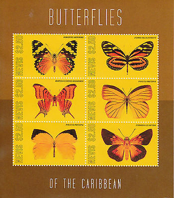 Nevis 2012 MNH Butterflies of the Caribbean 6v Sheetlet Hamadryas Amphinome