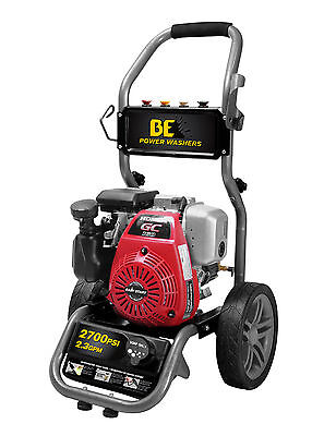 BE Pressure Washer 2700psi 2.3gpm 6.5 HP Honda