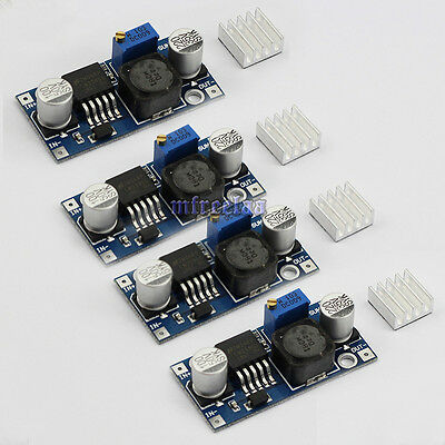 4pcs DC-DC LM2596 Step Down Adjustable Power Supply Module heatsink Converter