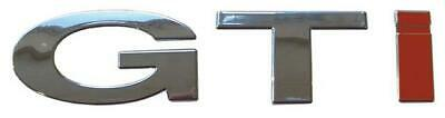 Gti Car Chrome Badge Emblem 3D Look Volkswagen Golf Self Adhesive