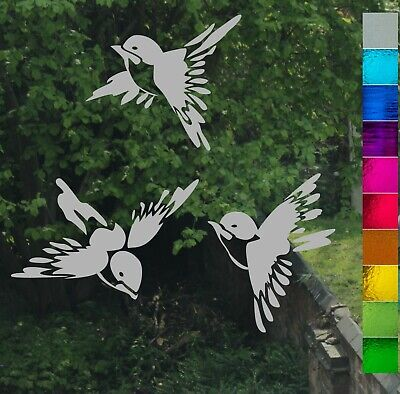 Chinese Bird Stained Glass Etch Frost Effect Greenhouse Window Stickers Transfer