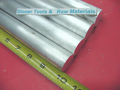 """4 Pieces 1"""" ALUMINUM 6061 ROUND BAR 10"""" long Solid T6 Rod Lathe Stock 1.00"""" OD"""
