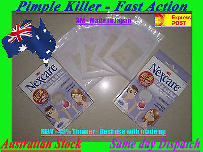 1/2/3/4 x NEW 3M EXTRA Thin JAPAN Nexcare Acne Dressing Pimple Stickers AUSTOCK