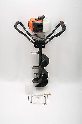 "Hand-Held Post Hole Digger / Earth Auger w/ 10"" Dia. Bit, 43cc 1.75hp Gas Engine"