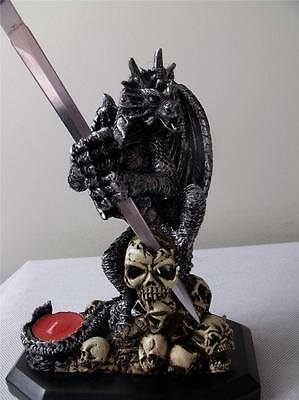 Brand new Flying Dragon with Sword Candle And Skulls for Display