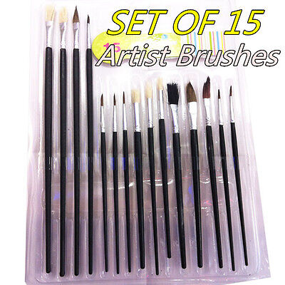 Art Artist Paint Brushes Set/Kit For Watercolour Oil Painting Face Paints Craft