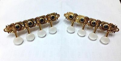A style Mandolin Gold-plated tuners with white color button 346G