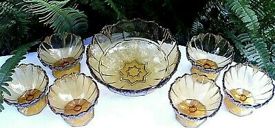 RARE Antique 1920's SOWERBY England HUMPHREY AMBER BOWLS SET VG Collectable Aust