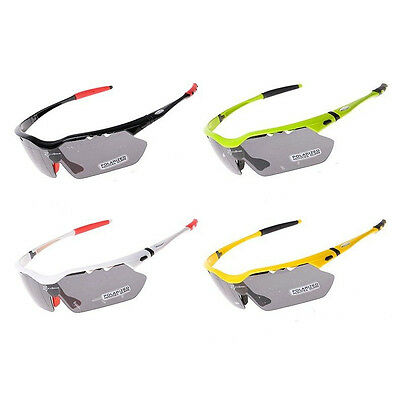 RockBros Polarized Cycling Sports Riding Sunglasses Goggles UV400 TR90 4 Lenses
