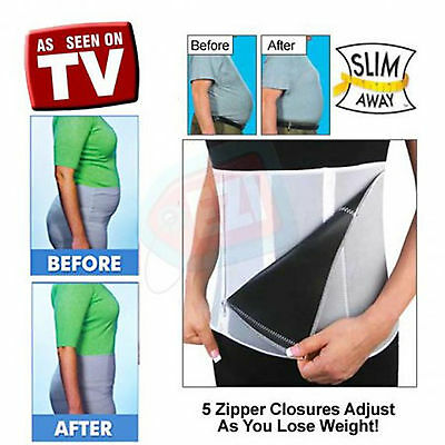 Adjustable Zipped Slimming Sauna Belt Body Wrap Zip Weightloss Fitness Exercise