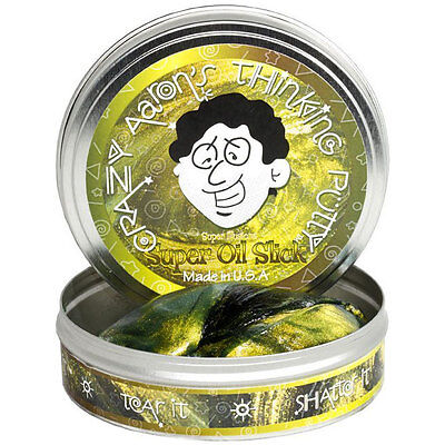 Crazy Aaron's Thinking Putty, SUPER ILLUSIONS - OIL SLICK, 10cm, Bouncy Putty
