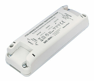 0W - 250W Dimmable Electronic Transformer YT250 for LV-Halogen, 12Vac LED lights