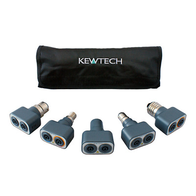 Kewtech Lightmate Light Fitting Testing 6 pc Adaptor Kit & Calibration Discount