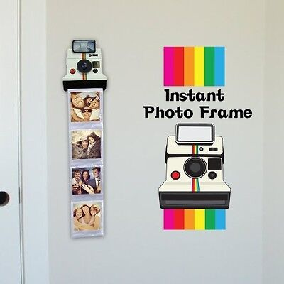 Instant Photo Frame Polaroid Style Photos Home Wall Decor 4 Pictures Collage Fun