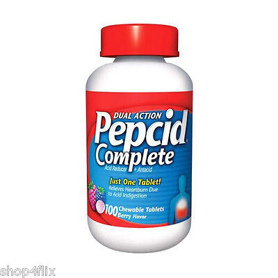 Pepcid Complete - 100 Chewable Tablets - Berry Flavor