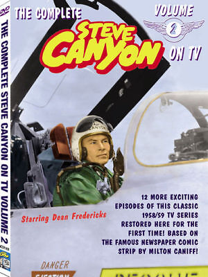 ALL NEW Steve Canyon TV VOL 2 DVD features 2nd 12 shows