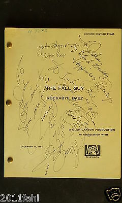The Fall Guy Rockabye Baby, 2nd Revised Final Screenplay, signed by 4 Tops, 1984
