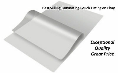 3 Mil Crystal Clear Letter Size Laminating Pouches 100 9 x 11.5 inch Sheets