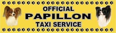 PAPILLON OFFICIAL TAXI SERVICE  Dog Car Sticker  By Starprint