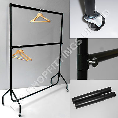 GARMENT RAIL 6ft LONG 7ft HIGH DOUBLE HANGING SPACE FOR YOUR CLOTHES