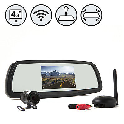 Digital Wireless Backup Camera System with Mirror Monitor, rear view, camper car