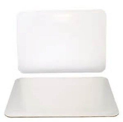 """14"""" x 10"""" CAKE PADS, WHITE, CORRUGATED, GREASE RESISTANT (10/PKG)"""