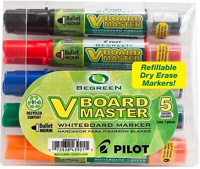 BeGreen - Whiteboard Marker, Refillable, Medium Bullet Pouch, Ast, Sold as 1 Pac