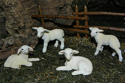 "Schleich Lamb Figurines 5"" Nativity Farm Life Animal Pesebre Animales Ovejas"