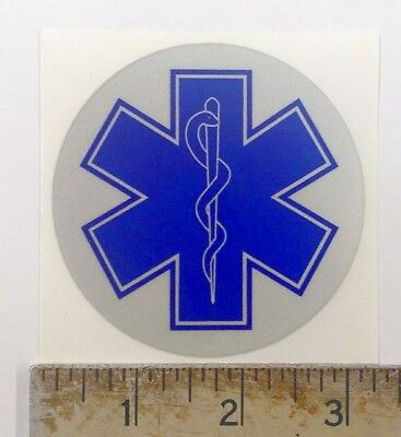 Reflective Star of Life sticker decal for Helmet 3""