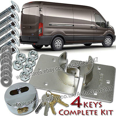 4 Keys 73mm High Security Anti Theft Rear or Side Van Door Shed Garage Hasp Lock