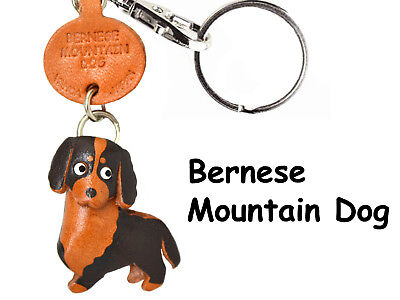 Bernese Mountain Dog Handmade 3D Leather Keychain *VANCA* Made in Japan #56706