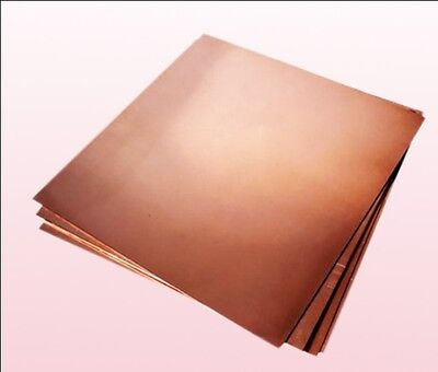 1pc 99.9% Pure Copper Cu Metal Sheet Plate 2 x 100 x 100 mm