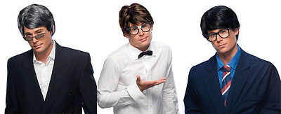 Adult Mens Male Character Short Straight Hair 60S Austin Powers Nerd Costume Wig