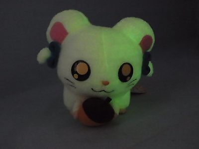 Hamtaro Bijou Ham Hamster Plush Stuffed Animal Phosphorescent Prize Japan (RY645