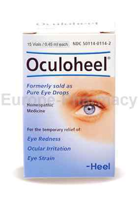 Heel OCULOHEEL - Pure Eye Drops 15 Vials / 0.45 ml Each-SAME DAY DISPATCH*