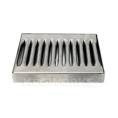 "5"" Beer Drip Tray - Stainless Steel - No Drain - Bar Pub Kegerator Spill Catcher"