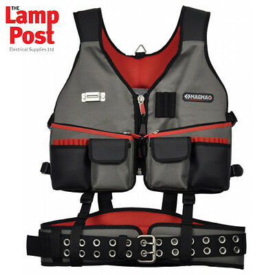 CK Tools Magma MA2728 - Builders Rig Vest With Comfort Padded Belt
