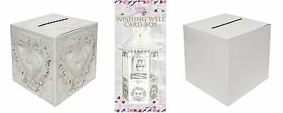 Wedding Card Receiving Post Box Wishing Well White 3 Designs