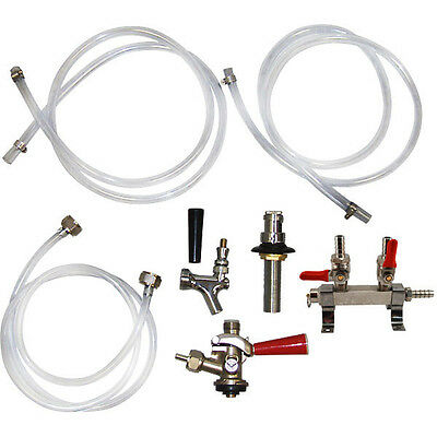 Add-a-Line Kit for Single Tap Conversion Kit - Draft Beer Kegerator Accessories