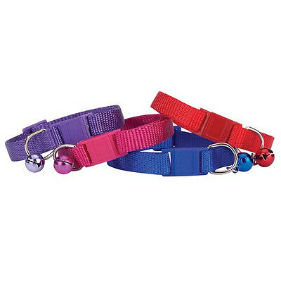Nylon Cat Collar with Bell, USA Seller, Savvy Tabby, 4 colors!