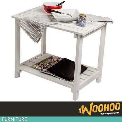 Cape Cod White Side Bed Table Furniture Coffee Outdoor Furniture Tea Time AU