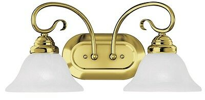 Coronado 2 Light Livex Polished Brass Bathroom Vanity Lighting Fixture 6102-02