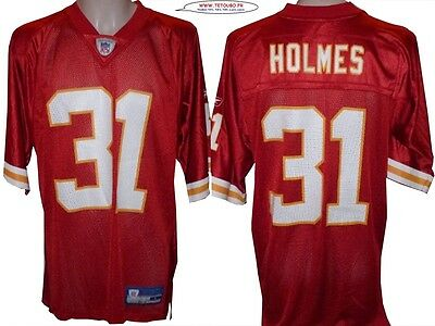 Maillot nfl Foot US américain CHIEFS 31 Holmes Youth L (us) -> S (fr)