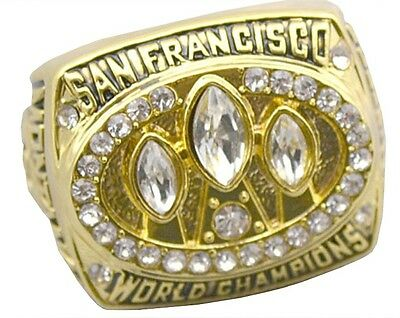 Goodies Bague Chevaliere NFL Joe MONTANA SF 49ERS Superbowl 1988 neuve